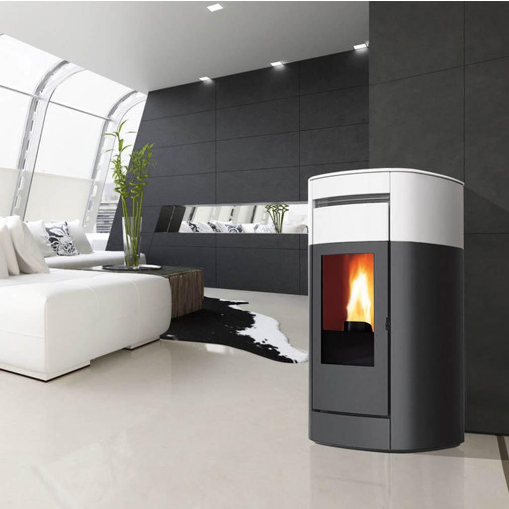 Stufe A Pellet Installazione Esterna termostufa a pellet edilkamin modello vyda h 22,5 kw - idro